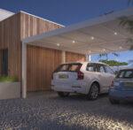 Wit Premium | Riante carport met spots | Het ultieme thuiskomen