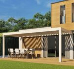 Wit Hoogwaardig | Lamellen terrasoverkapping | Geniet van ieder moment