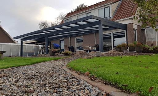 Luxe veranda op maat brede dekking