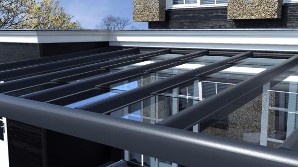 Luxe veranda op maat glazen dak