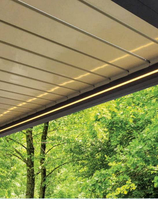 buitenverlichting terrasoverkapping led-strips