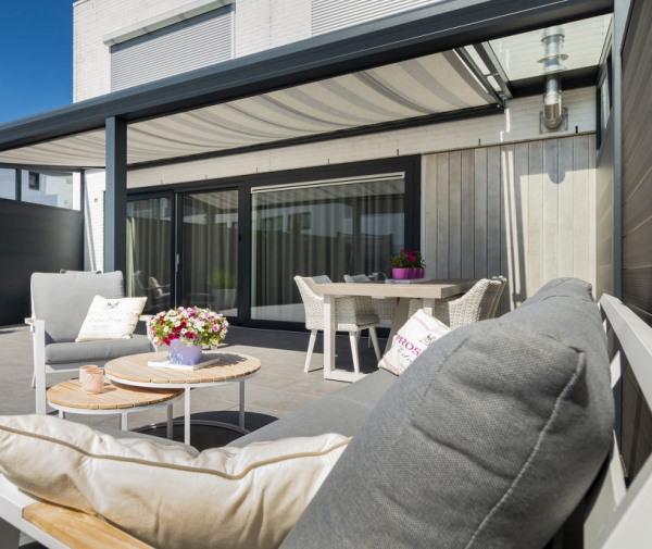 terrasoverkapping glas op maat zonwering